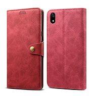 Lenuo Leather na Xiaomi Redmi 7A, červené - Puzdro na mobil