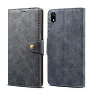 Lenuo Leather na Xiaomi Redmi 7A, sivé - Puzdro na mobil