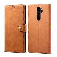 Lenuo Leather pre Xiaomi Redmi Note 8 Pro, hnedé - Puzdro na mobil