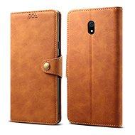 Lenuo Leather pre Xiaomi Redmi 8A, hnedé - Puzdro na mobil