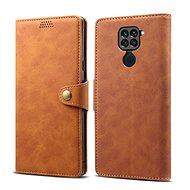 Puzdro na mobil Lenuo Leather pre Xiaomi Redmi Note 9, hnedé - Pouzdro na mobil