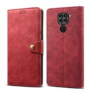 Lenuo Leather pre Xiaomi Redmi Note 9, červené - Puzdro na mobil