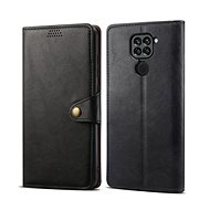 Puzdro na mobil Lenuo Leather pre Xiaomi Redmi Note 9, čierne - Pouzdro na mobil