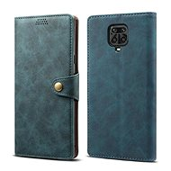 Puzdro na mobil Lenuo Leather pre Xiaomi Redmi Note 9 Pro/ Note 9S, modré - Pouzdro na mobil