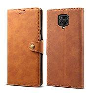 Puzdro na mobil Lenuo Leather pre Xiaomi Redmi Note 9 Pro/ Note 9S, hnedé - Pouzdro na mobil
