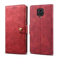 Puzdro na mobil Lenuo Leather pre Xiaomi Redmi Note 9 Pro/ Note 9S, červené - Pouzdro na mobil