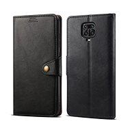 Puzdro na mobil Lenuo Leather pre Xiaomi Redmi Note 9 Pro/ Note 9S, čierne - Pouzdro na mobil