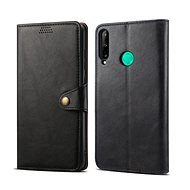 Puzdro na mobil Lenuo Leather pre Huawei P40 Lite E, čierne - Pouzdro na mobil