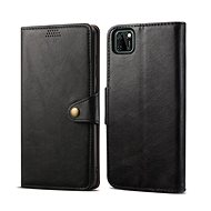Puzdro na mobil Lenuo Leather pre Huawei Y5p, čierne - Pouzdro na mobil