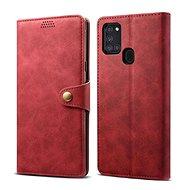 Puzdro na mobil Lenuo Leather pre Samsung Galaxy A21s, červené - Pouzdro na mobil