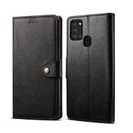 Puzdro na mobil Lenuo Leather pre Samsung Galaxy A21s, čierne - Pouzdro na mobil