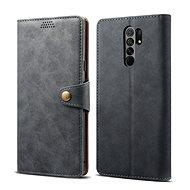 Lenuo Leather pre Xiaomi Redmi 9, sivé