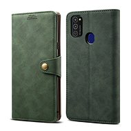 Puzdro na mobil Lenuo Leather pre Samsung Galaxy M21, zelené