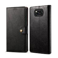 Puzdro na mobil Lenuo Leather pre Xiaomi Poco X3, čierne - Pouzdro na mobil