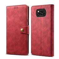 Puzdro na mobil Lenuo Leather pre Xiaomi Poco X3, červené - Pouzdro na mobil
