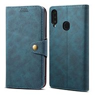 Lenuo Leather na Samsung Galaxy A20s, modré - Puzdro na mobil