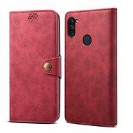 Puzdro na mobil Lenuo Leather na Samsung Galaxy M11, červené - Pouzdro na mobil