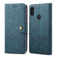 Puzdro na mobil Lenuo Leather na Samsung Galaxy M11, modré - Pouzdro na mobil