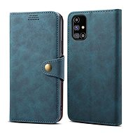 Puzdro na mobil Lenuo Leather na Samsung Galaxy M31s, modré - Pouzdro na mobil