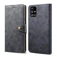 Puzdro na mobil Lenuo Leather na Samsung Galaxy M31s, sivé - Pouzdro na mobil