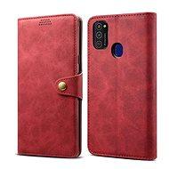 Lenuo Leather pre Samsung Galaxy S21 5G, červené - Puzdro na mobil