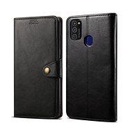 Lenuo Leather pre Samsung Galaxy S21 5G, čierne - Puzdro na mobil