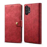 Lenuo Leather pre Samsung Galaxy A32 5G, červené - Puzdro na mobil