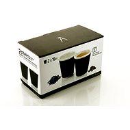 LES ARTISTES A-0631 Black, súprava hrnčekov 2ks 180ml - Kávové šálky