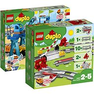 LEGO DUPLO 10875 Nákladný vlak + 10882 Koľajnice - Herná sada