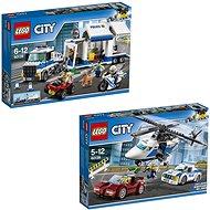 LEGO City 60138 Naháňačka vo vysokej rýchlosti + LEGO City 60139 Mobilné veliteľské centrum - Herná súprava