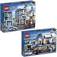 LEGO City 60141 Policajná stanica + LEGO City 60139 Mobilné veliteľské centrum - Herná súprava