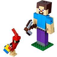 LEGO Minecraft 21148 Minecraft veľká figúrka: Steve s papagájom - Stavebnica