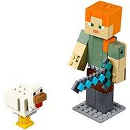 LEGO Minecraft 21149 Minecraft veľká figúrka: Alex s kuraťom - Stavebnica