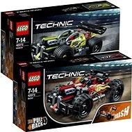 LEGO Technic 42073 Červená bugina + LEGO Technic 42072 Zelený závoďák - Herná súprava