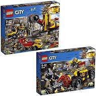 LEGO City 60186 Banský ťažobný stroj + LEGO City 60188 Baňa - Herná súprava