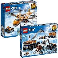 LEGO City 60195 Mobilná polárna stanica + LEGO City 60193 Polárne letisko - Herná súprava