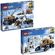LEGO City 60195 Mobilná polárna stanica + LEGO City 60194 Prieskumné polárne vozidlo - Herná súprava