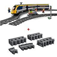 LEGO City Trains 60197 Osobný vlak a City Trains 60205 Koľajnice