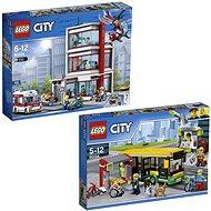 LEGO City 60204 Nemocnica + LEGO City Town 60154 Zastávka autobusu - Herná súprava
