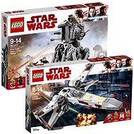 LEGO Star Wars 75218 Stíhačka X-wing Starfighter + LEGO Star Wars 75177 Ťažký prieskumný chodec Prvého rádu - Herná súprava
