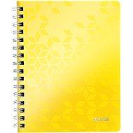 Leitz WOW A5, linkovaný, žltý - Poznámkový blok