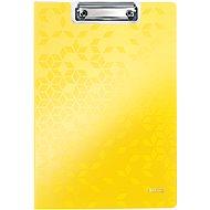 Leitz WOW so zakrývacou doskou A4, žltá - Podložka na písanie