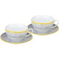 By-inspire Súprava čajových šálok s tanierikmi 2 ks ZEM