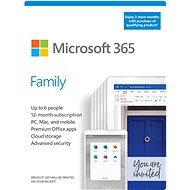 Microsoft 365 Family (15 Months, 6 Users) + Kaspersky Internet Security (12 Months, 1 User)