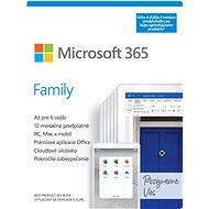 Microsoft 365 Family (15 mesiacov, 6 používateľov) + Kaspersky Internet Security (12 mesiacov, 1 používateľ) - Kancelársky softvér