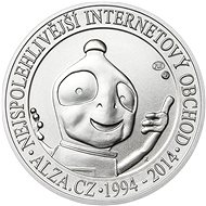 ALZA pamätný strieborňák 20 rokov Alza.cz 1 OZ, hmotnosť 31.1g - Strieborná pamätná minca