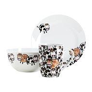 Mäser Detská jedálenská sada 3 ks BROWN COW - Detská jedálenská súprava