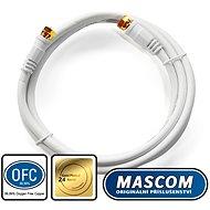 Mascom koaxiálny kábel 7676-015W, konektory F 1,5 m - Kábel anténny