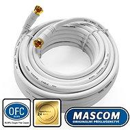 Mascom koaxiálny kábel 7676-100W, konektory F 10 m