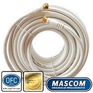 Mascom koaxiálny kábel 7676-150W, konektory F 15 m - Kábel anténny